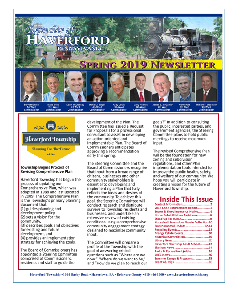 Township of Haverford Spring 2019 Newsletter